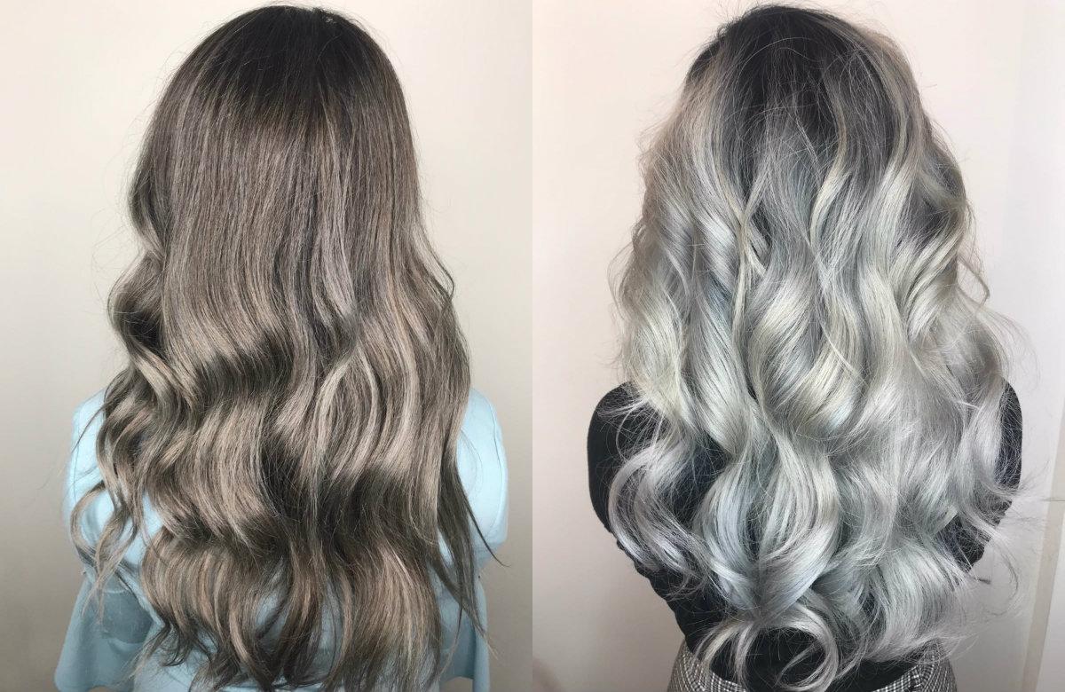 Zo verzorg je metallic zilvergrijs haar in de zomer