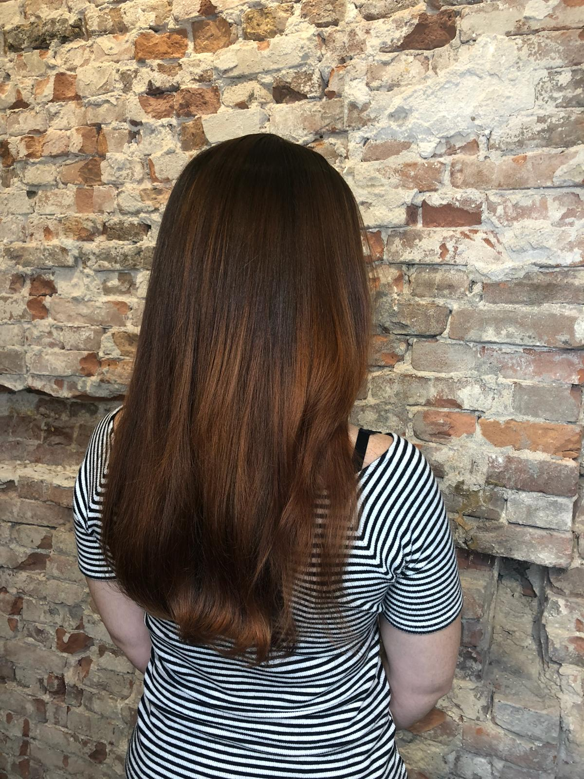 the color balayage